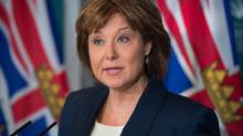 British Columbia Premier Christy Clark responds to the federal government approval of the Kinder Morgan Trans Mountain Pipeline expansion project, during a news conference in Vancouver, B.C., on Wednesday November 30, 2016. (DARRYL DYCK/THE CANADIAN PRESS)
