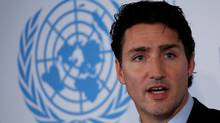 Canadian Prime Minister Justin Trudeau speaks during the Private Sector Forum on the sidelines of the United Nations General Assembly at United Nations headquarters in New York City, U.S. September 19, 2016. (Brendan McDermid/Reuters)