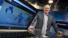 Scott Moore, Rogers' president of broadcasting, inside one of the Sportsnet studios on Jan. 7, 2013. Sportsnet has become a revenue driver in Rogers Media. (Peter Power/The Globe and Mail)