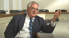 "Rep. Barney Frank (D-MA), chairman, House Financial Services Committee, in a scene from ""Inside Job"""