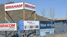 A construction project in North West Regina. (ROY ANTAL/The Globe and Mail)