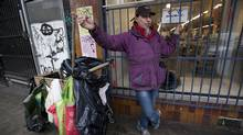 Anthony McNab stands outside The United We Can bottle depot on East Hastings Street on the Downtown Eastside on Jan. 23, 2013. (Deborah Baic/The Globe and Mail)