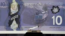 The central bank had claimed that its new plastic $10 bank notes included an image of majestic Mount Edith Cavell, a prominent peak in the Canadian Rockies south of Jasper, Alta. (JONATHAN HAYWARD/THE CANADIAN PRESS)