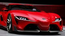 Toyota FT-1 concept car: a front-engine, rear-wheel-drive, long-nosed concept that harkens back to the Toyota 2000GT of the late-1960s. (REBECCA COOK/REUTERS)