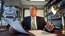 Ian Hull, a Toronto lawyer who specializes in contentious estate litigations, explains the burdens of being an executor. (JENNIFER ROBERTS/Jennifer Roberts for The Globe and Mail)