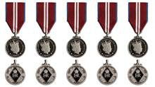 A composite of Diamond Jubilee Medals, honouring Queen Elizabeth's 60th year of reign. (Handout)
