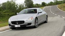 Should you ever find yourself airborne in a Maserati Quattroporte rest assured that it lands nicely. (Maserati)