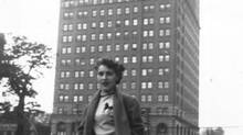 Dave's mom, Louise LeBlanc, outside the Park Plaza Hotel, Toronto, 1952.