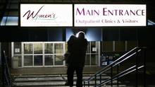 A woman enters B.C. Women's Hospital and Health Centre in Vancouver. (Richard Lam/The Canadian Press/Richard Lam/The Canadian Press)