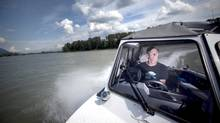 Brian McKinlay, owner and head guide of Silversides Fishing Adventures on the Fraser river near Mission, B.C. (JOHN LEHMANN/John Lehmann/The Globe and Mail)