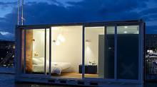 River views and luxe amenities lure guests into a metal box hotel in Antwerp. (Sleeping Around)
