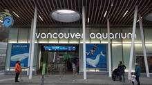 The outside of the Vancouver Aquarium is pictured in Vancouver, B.C. on Nov. 18, 2016. The aquarium announced that the Qila, a 21-year-old whale died Wednesday morning, a second whale is now being watched for similar symptoms. (Jonathan Hayward/THE CANADIAN PRESS)