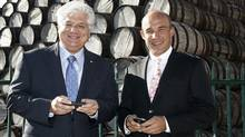 RIM co-chief executive officers Mike Lazaridis, left, and Jim Balsillie. (DAVE CHIDLEY)