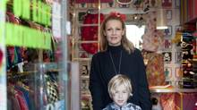 Daniela Marzulli and son Rocco in her shop in Rome. Will she vote for Silvio Berlusconi? Forget it, she says: 'Austerity is the only thing that will save us from total collapse.' (LIana Miuccio for The Globe and Mail)