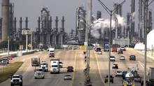 Shell Oil's Deer Park refinery and petrochemical facility (background) in Deer Park, Tex. (David J. Phillip/The Associated Press)