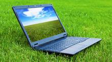 Laptop on grass (Oleksiy Mark/Getty Images/iStockphoto)