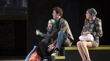 Deborah Hay, Damien Atkins and Fiona Reid in London Road. (David Hou)