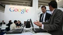 The Google booth at this year's Frankfurt Book Fair (Ralph Orlowski/Getty Images)