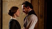 Michael Fassbender as Mr. Rochester and Mia Wasikowska as Jane Eyre in the romantic drama Jane Eyre, an Alliance Films release directed by Cary Fukunaga. (Laurie Sparham)