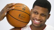 Rudy Gay poses during the NBA team Toronto Raptors media day in Toronto, September 30, 2013. (MARK BLINCH/REUTERS)