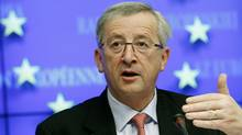 Prominent EU politician Jean-Claude Juncker is pushing for the creation of a common euro zone bond that would finance up to half of the debt requirement of euro zone members. (THIERRY ROGE/Thierry Roge/Reuters)