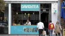 DavidsTea is among Canadian companies set to report earnings in the week ahead. (Tibor Kolley/The Globe and Mail)