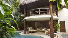 Villas at the Viceroy Riviera Maya offer private plunge pools, decks and peekaboo indoor/outdoor showers.