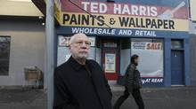 Bob Harris, the family owner of the 92 year-old Ted Harris Paints in east Vancouver, sold the paint store to the Rennie family. (Laura Leyshon For The Globe and Mail)