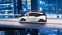 An electrically-powered BMW i3 at the Frankfurt Auto Show (Frank Rumpenhorst/AP Photo)