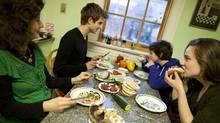 Cooking in the kitchen with Nettie Cronish and family. (Moe Doiron/Moe Doiron/The Globe and Mail)