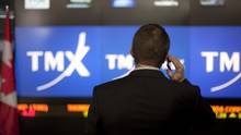 TMX Group Inc. signage is seen at the Toronto Stock Exchange (TSX) in this file photo. (Pawel Dwulit/Bloomberg)