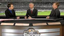 A screen grab from the Fox Soccer Report, which is produced in Canada. That's John Doyle on the right.