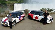 David Duncan, Mini of the Americas vice-president and Adam Shaver, Mini Canada director at the Niagara Falls Mini Invasion. (BMW)