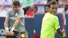 Milos Raonic of Thornhill, Ont. and Vasek Pospisil of Vancouver