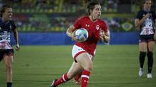 Ghislaine Landry will captain Canada's women's rugby sevens squad is Jen Kish's absence. (Alessandro Bianchi/Reuters)