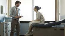 Keanu Reeves, left, and Lily Collins in To The Bone. (Gilles Mingasson/Netflix/via AP)