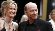 Director Paul Haggis and his wife Deborah Rennard at the 2008 Academy Awards in Hollywood.