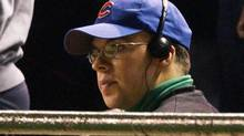 Chicago Cubs fan Steve Bartman sits in the stands at Wrigley Field in Chicago during the eighth inning of Game 6 of the NLCS between the Chicago Cubs and the Florida Marlins Tuesday, Oct. 14, 2003. Earlier in the inning, Bartman tried to grab a foul ball, preventing Cubs outfielder Moises Alou from catching it. (SCOTT STRAZZANTE/AP)