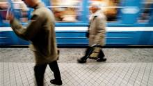 Commuters on the platform at T-Centralen subway station, Stockholm, Sweden, are shown in this file photo (Associated Press)