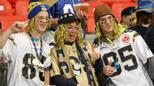 Fans show their support before the start of CFL Grey Cup action. (Ryan Remiorz/The Canadian Press/Ryan Remiorz/The Canadian Press)