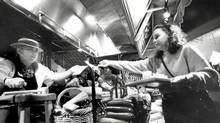 Diners collect the components of their meals at the Marche Movenpick in 1993. (Fred Lum//The Globe and Mail)