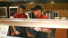As the authors point out, the success of the reality TV show Undercover Boss lies in the truth that many CEOs have little comprehension of the reality of their employees' working lives. In one episode of the show, Don Fertman, right, chief development officer for Subway, goes undercover in one of his company's restaurants. (Studio Lambert)