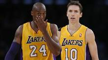 Los Angeles Lakers Kobe Bryant and Steve Nash (LUCY NICHOLSON/REUTERS)