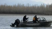 Sport fishermen take to the Fraser River near Chilliwack, B.C., in pursuit of sockeye salmon, a quest that's created tension between natives and non-natives eyeing the same areas of the river. (Tony Malloway)