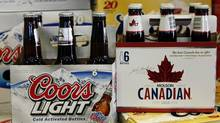 Coors Light and Molson Canadian on sale in Denver, Colo. (Ed Andrieski/Ed Andrieski/AP)
