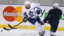 Joffrey Lupul takes part in an informal Toronto Maple Leafs practice in Toronto on Thursday January 10 , 2013. (The Canadian Press)