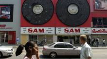 Exteriors of the old Sam the Record Man store on Yonge St. near Gould St. (Fred Lum/The Globe and Mail)
