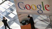In this file photo made Jan. 11, 2010, a Google logo is displayed at the National Retail Federation convention in New York. A B.C. court has ordered Google to block search results mentioning a company accused of violating trademarks. (Mark Lennihan/The Associated Press)