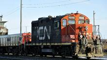 File photo of a CN locomotive in Montreal. (Graham Hughes/Graham Hughes/THE CANADIAN PRESS)