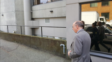 Brian Bonney leaves Vancouver provincial court on Tuesday, May 17, 2016. Mr. Bonney was charged with breach of trust for his alleged role in an ethnic outreach plan. (Sunny Dhillon/The Globe and Mail)